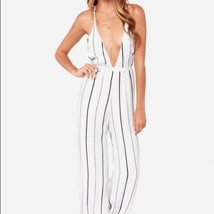 Pants - Faithfull the Brand Ivory striped jumpsuit